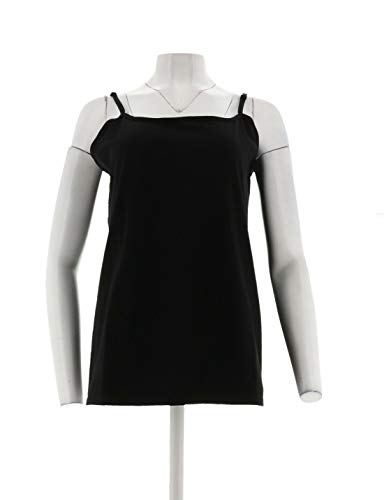 Liz Claiborne NY Essentials Slvlss Scoop Neck Knit Camisole Black XS A264114 New