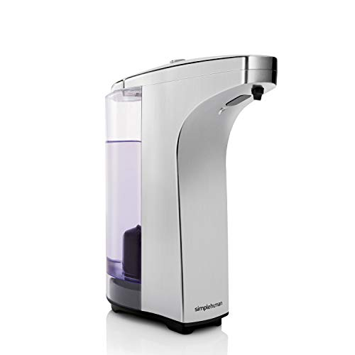 simplehuman 8 oz. Sensor Pump with Soap Sample, Brushed Nickel (Touchless Soap Dispensers)