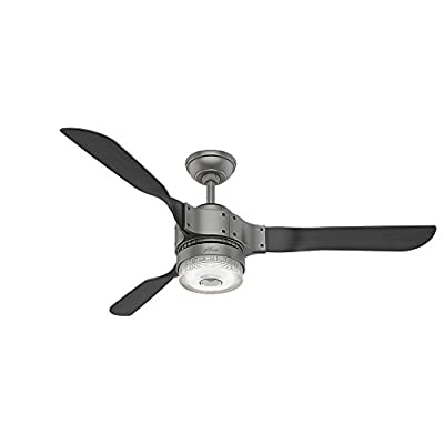 "Hunter 59226 54"" Apache Ceiling Fan with Light with Handheld Remote"