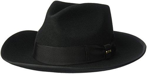 SCALA Men's Wool Felt Zoot Hat (X-Large, Black)