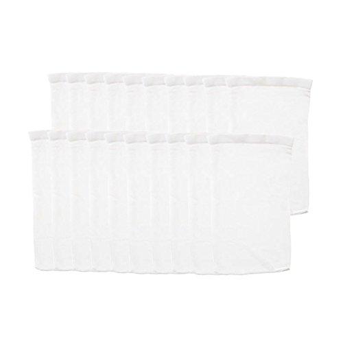 NouveLife–Lote de 20fundas blancas para filtro de piscina faciles de limpiar, perfectas para filtro Skimmer