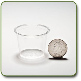 1 Oz. PLA Corn Plastic Biodegradable Portion Cups (Sleeve of 100)