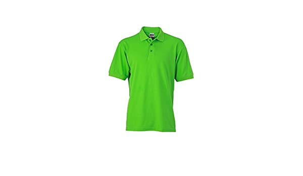 Trabajo Polo de manga corta para hombre, color - verde limón ...