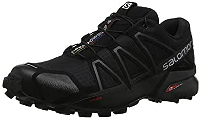 Salomon Men's Speedcross 4 Trail Running Shoes, Black, 8 US