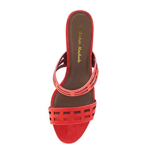 Rojo Colores Mujeres Machado 32 tallas Ante 35 45 En Y para 42 Andres Pequeñas Grandes Diferentes am5384 sandalias 8wqnTY