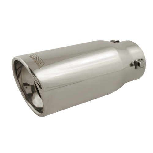 DC Sport EX-1010 Stainless Steel Resonated Slant Cut Bolt-on Exhaust - Slant Cut Tip Exhaust