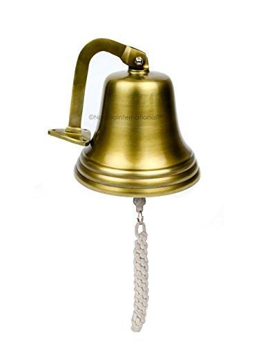Nagina International 7 Inches Antique Brushed Brass Aluminum Cast Premium Nautical Boat Bell | Nursery Decor Gifts ()
