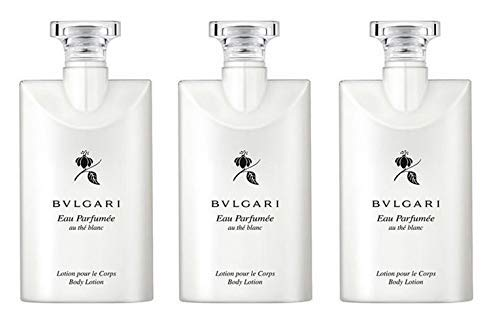 Bvlgari Au the Blanc (White Tea) Body Lotion - Set of 3, 2.5 Ounce bottles