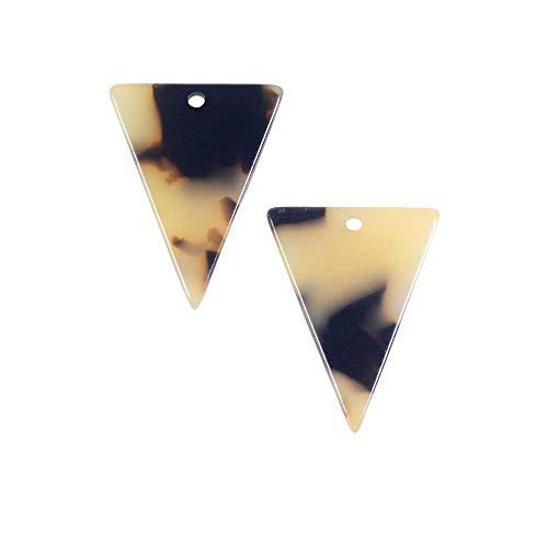 Zola Elements Acetate Pendant, Triangle 16x20mm, 2 Pieces, Light Brown Tortoise ()