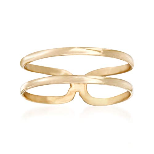 Ross-Simons 14kt Yellow Gold Two-Band Open-Space Ring