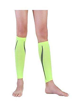 eDealMax Unisex sin Base de la novedad Imprime calcetines de compresión 1 Pack Un tamaño Verde