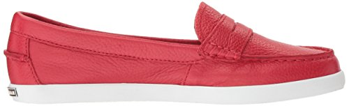 Cole Haan Women's Pinch Weekender Penny Loafer, Sandshell Nubuck-Floral Print Footbed, US Chili Red