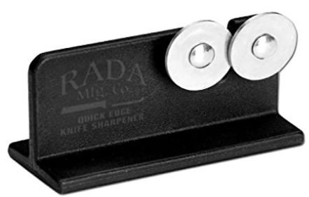 Rada Cutlery Paring Knife Set – 3 Knives with Stainless Steel Blades PLUS Knife Sharpener