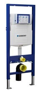 Geberit 111.335.00.5 Concealed Toilet Carrier Frame with UP320 Dual-Flush Tank