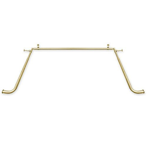 Global Sources Bay Window Curtain Rods, 1 inch, Gold
