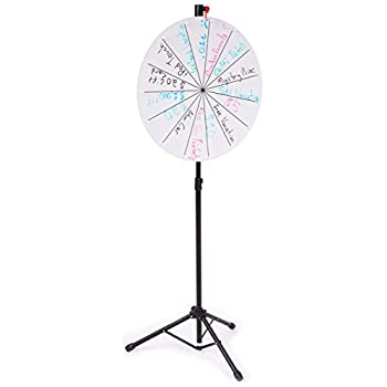 Image of Casino Prize Wheels Displays2go Gloss White Acrylic Write-On Surface Prize Wheel