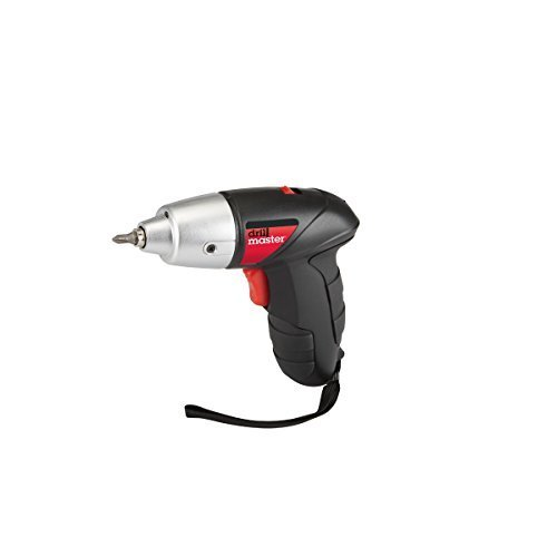 4.8 Volt 1/4 Inch Cordless Screwdriver Kit with Built-in LED Light; Forward and Reverse Operation by Drill Master