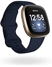 Fitbit FB511GLNV Versa 3 Smart Watch, GPS - Blue and Gold