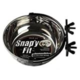 SNAP'Y FIT Dog Bowl - Size: 20 Ounce - Color: Stainless Steel