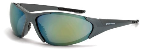 (12 Pack Crossfire 181212 Core Safety Glasses Gold Mirror Lens - Emerald Pearl Frame)