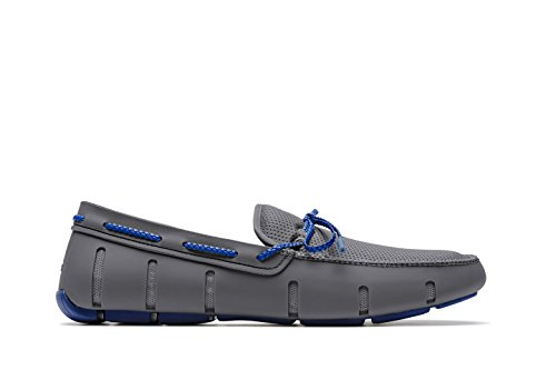 SWIMS Men's Braided Lace Loafer For Pool - Gray/Blue, 12 by SWIMS