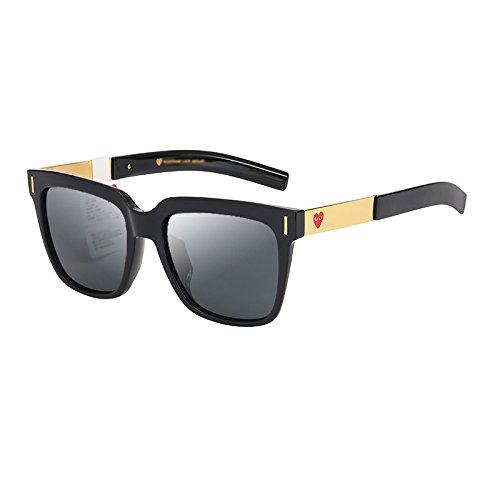 WFL Marea C de Personalidad Cuadrados Que Las de Gafas Cara Hombres Las de Gafas B la de Los la de Mm de Sol conducen Sol AaqrxBA
