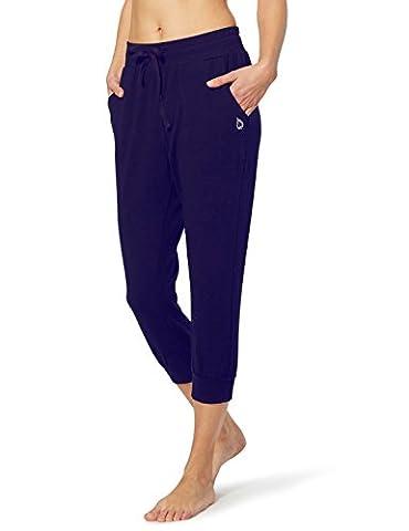 Baleaf Women's Active Yoga Lounge Capri Pocket Sweat Pants Navy Blue Size M (Womens Adventure Pants)