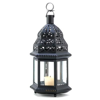 Zingz and Thingz Moroccan Birdcage Lantern in Black