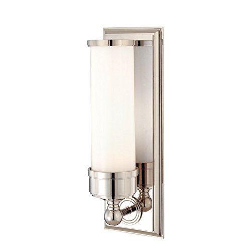 - Hudson Valley Lighting 371-PN One Light Bath Bracket from the Everett collection Polished Nickel