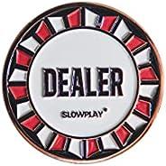 SLOWPLAY Casino Grade Pro Dealer Button for Texas Holdem Poker, 3 Inch Dealer Buttons, Luxury Poker Accessorie