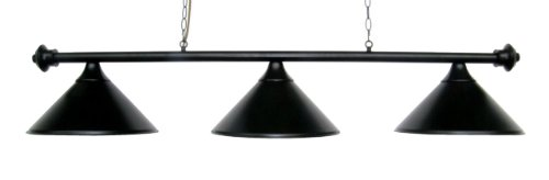 Metal Pool Table Light Billiard Lamp Black 55'