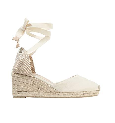 - Ruanyu Womens Closed Toe Espadrille Wedge Sandals Lace Up Platform Summer Sandals