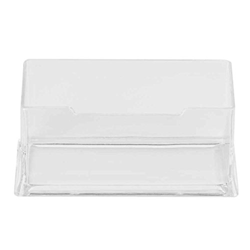 Clear Desktop Business Card Holder Display Stand Acrylic Plastic Desk Shelf Stand MuLuo