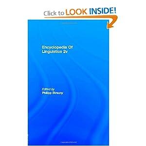 Encyclopedia of Linguistics 2 Volume Set Philipp Strazny