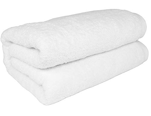 "SALBAKOS 40""x80"" Turkish Cotton Bath Sheet, Luxury, Eco-friendly Large Oversized (40x80, White)"