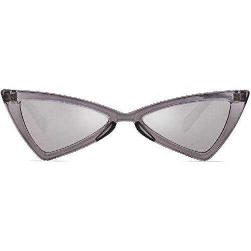 De Plateado Marco Lente Gato SOJOS Gris Moda SJ2051 Sol Mujer Ojo Gafas Triángulo C2 De awwx1Zq