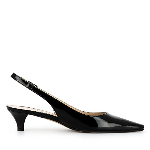 Evita Shoes Lia Damen Sling Pumps Lack Schwarz