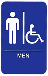 "Tablecraft (695631A) ""Men/Accessible"" Sign"
