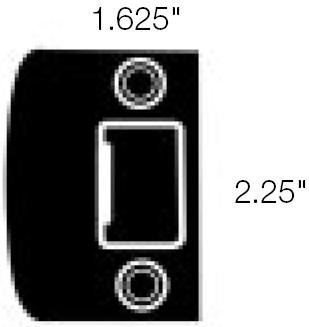 Baldwin Strike Plate (Baldwin 5510.FSTR 1.625