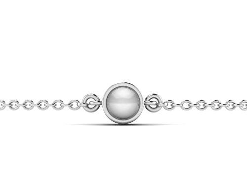 Or Blanc 18 ct Bracelet Perle en forme de rond, 0.7 Ct Perle, GH-SI, 1.45 grammes.