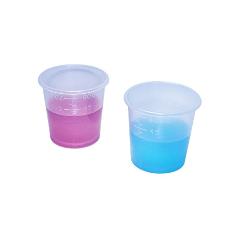2 Ounce Medicine Cups - Thick Plastic Disposable Medicine Cups (100)