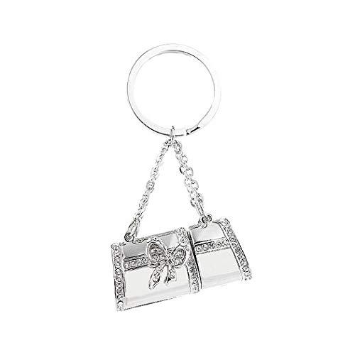 (Glamorousky Elegant Handbag Shaped USB with Silver Austrian Element Crystals (1GB) (3036))