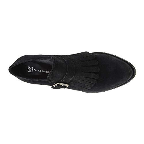 Franges Daim Noir à Noir et en Chaussures Escarpins w1qnxTYvC