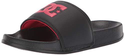 DC Boys Slide Sandal, Black/RED, 11 M M US Little Kid