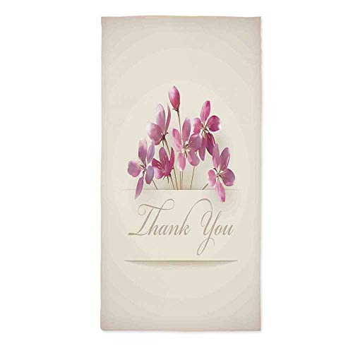 - Cherry Blossoms Custom Tablecloth,Spring Flowers Floral Thank You for Anniversary and Teachers Print for Home & Office & Restaurant Table Tea Table,24''W X 48''L
