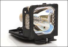 - Replacement projector lamp for Toshiba TLP-LV9