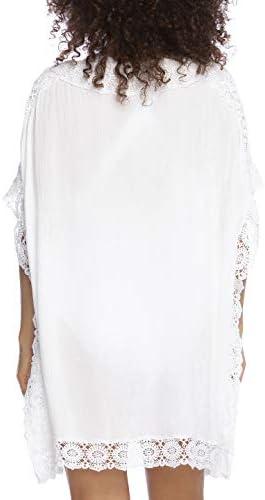 La Blanca Women's Short Sleeve Tunic Swim Cover-up