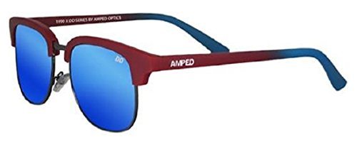 AMPED Dianna Dahlgren Signature Series Polarized Sunglasses (Crimson/Blue, Cobalt - Sunglasses Amped