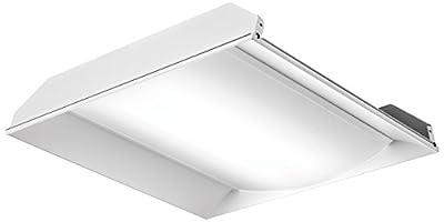 Lithonia Lighting 2FSL2 33L EZ1 LP840 White LED Architectural Troffer, 2-Feet