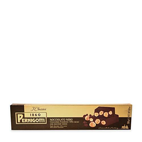 Pernigotti, Torrone Nocciolato Fondente, al Cioccolato Fondente con Nocciole Intere, Senza Glutine, 12 Pezzi x 250 gr (3 kg)